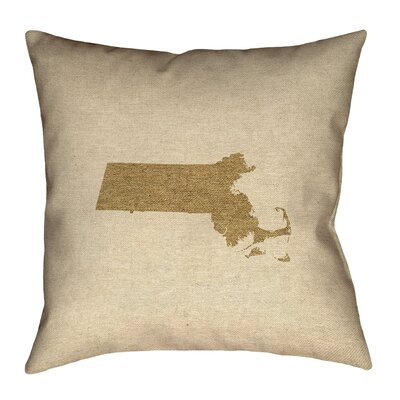 Austrinus Massachusetts Canvas Throw Pillow Size: 14 x 14