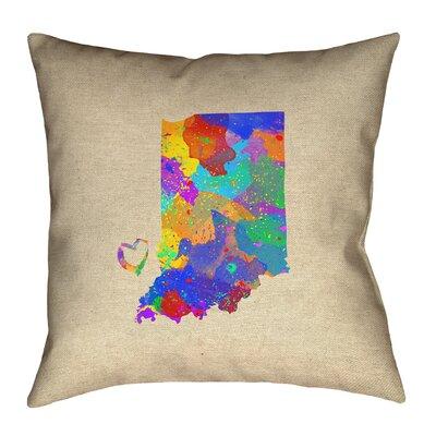 Kirkley Indiana Love Watercolor Pillow