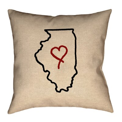 Genibrel Illinois Love Outline Pillow