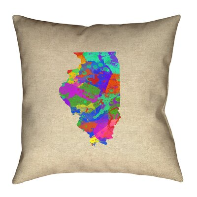 Kirkley Illinois Watercolor Pillow