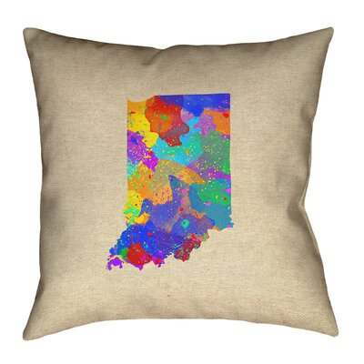 Kirkley Indiana Watercolor Pillow