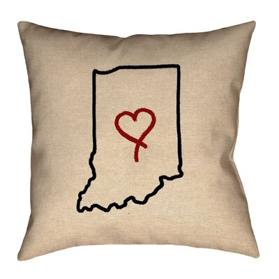 Kirkley Indiana Love Outline Pillow
