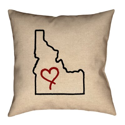 Genibrel Idaho Love Outline Pillow