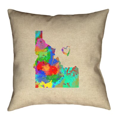 Genibrel Idaho Love Watercolor Pillow