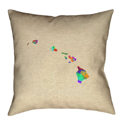 Austrinus Hawaii Watercolor Pillow