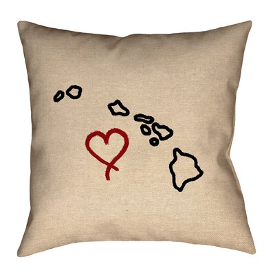 Austrinus Hawaii Love Outline Pillow