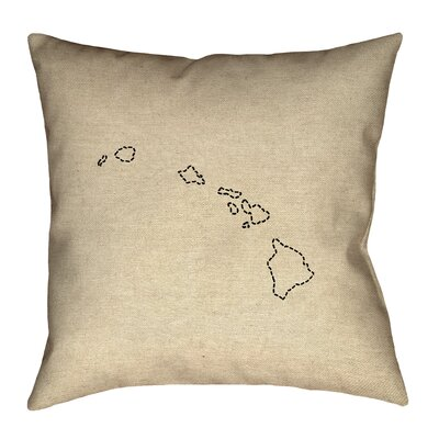 Genibrel Hawaii Dash Outline Pillow