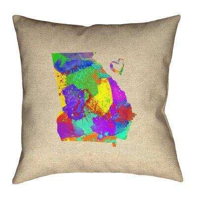 Genibrel Georgia Love Watercolor Pillow