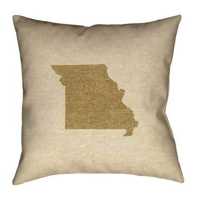Austrinus Missouri Canvas Throw Pillow Size: 20 x 20