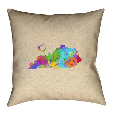 Austrinus Square Watercolor Double Sided Print Pillow with Concealed Zipper