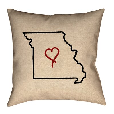 Austrinus Missouri Love Outline Pillow