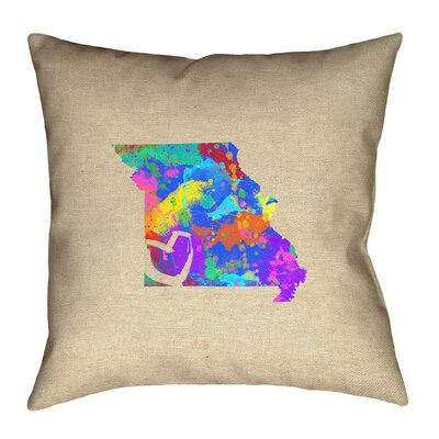 Austrinus Missouri Love Watercolor Pillow