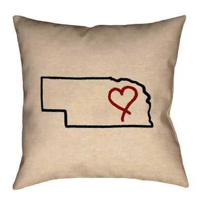 Austrinus Nebraska Love Outline Pillow