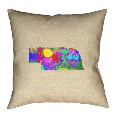 Austrinus Nebraska Watercolor Pillow