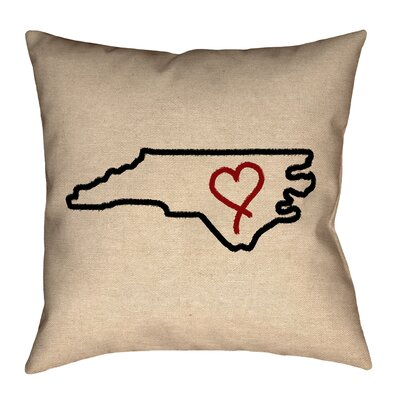 Austrinus North Carolina Love Outline Pillow
