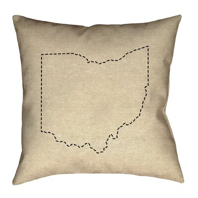 Austrinus Ohio Dash Outline Pillow