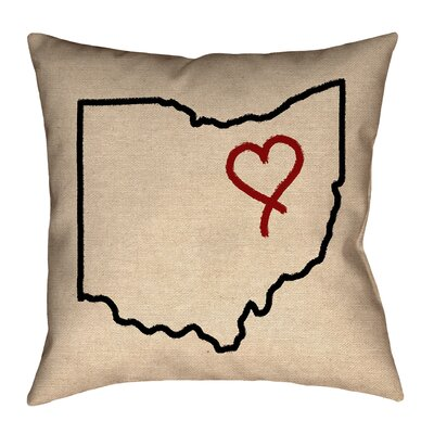 Austrinus Ohio Love Outline Pillow