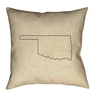Austrinus Oklahoma Dash Outline Pillow