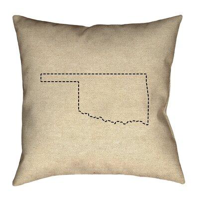 Austrinus Oklahoma Dash Outline Pillow