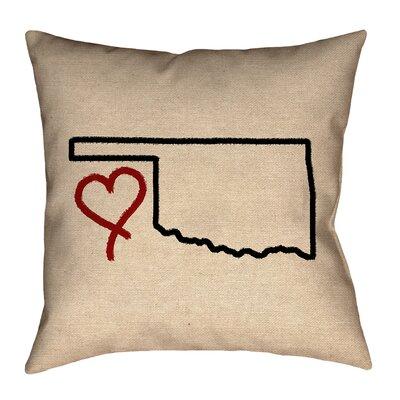 Austrinus Oklahoma Love Outline Pillow