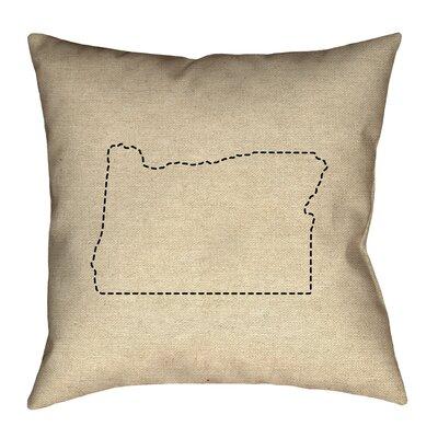 Austrinus Oregon Dash Outline Pillow