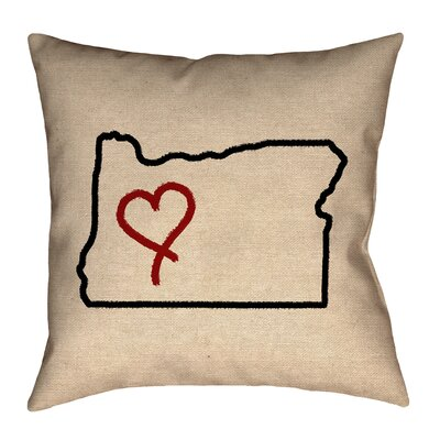 Austrinus Oregon Love Outline Pillow