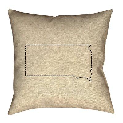 Chaput South Dakota Dash Outline Pillow