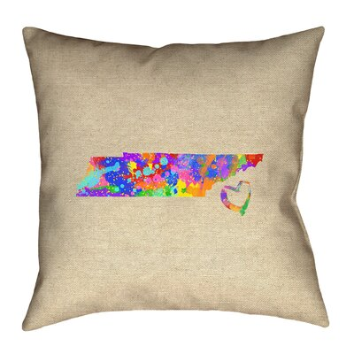 Chaput Tennessee Love Watercolor Pillow
