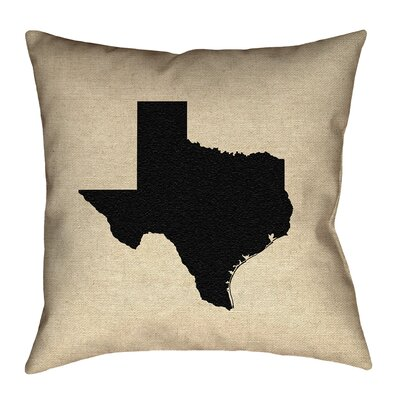 Sherilyn Texas Double Sided Print Floor Pillow Size: 20 x 20, Color: Black
