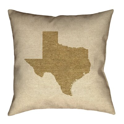 Sherilyn Texas Double Sided Print Floor Pillow Size: 16 x 16, Color: Brown