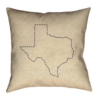 Sherilyn Texas Size: 16 x 16, Type: Throw Pillow