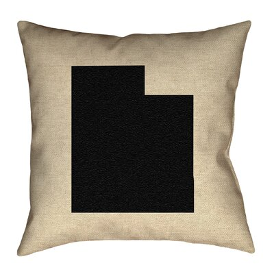 Sherilyn Utah Double Sided Print Floor Pillow Size: 20 x 20, Color: Black