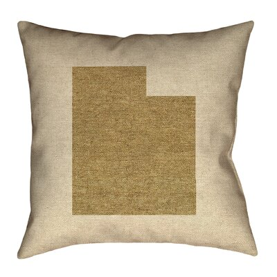 Sherilyn Utah Double Sided Print Floor Pillow Size: 18 x 18, Color: Brown