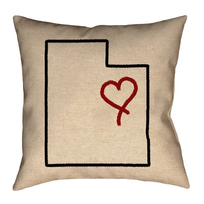 Sherilyn Utah Love Outdoor Throw Pillow Size: 16 x 16