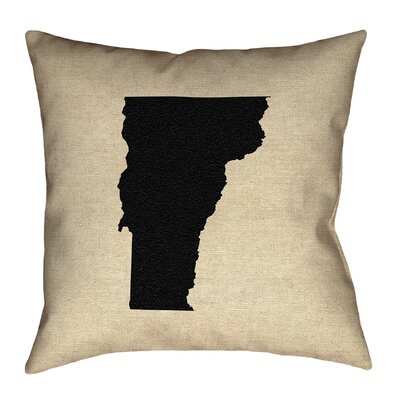 Sherilyn Vermont Floor Pillow Size: 36 x 36, Color: Black