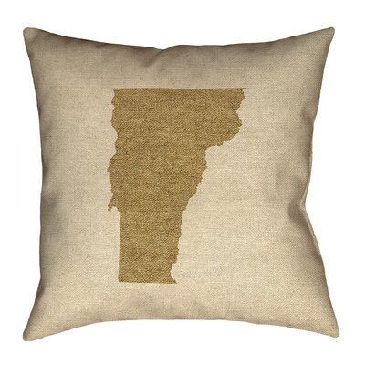 Sherilyn Vermont Floor Pillow Size: 36 x 36, Color: Brown