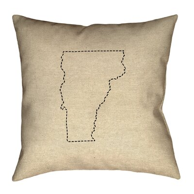 Sherilyn Vermont Dash Outline Size: 28 x 28, Type: Floor Pillow