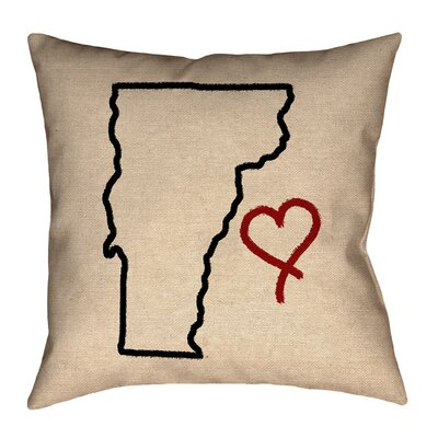 Sherilyn Vermont Love Double Sided Print Size: 18 x 18, Type: Throw Pillow