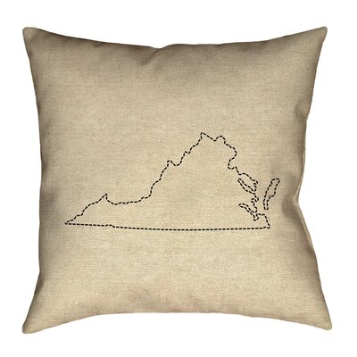 Sherilyn Virginia Outdoor Throw Pillow Size: 16 x 16