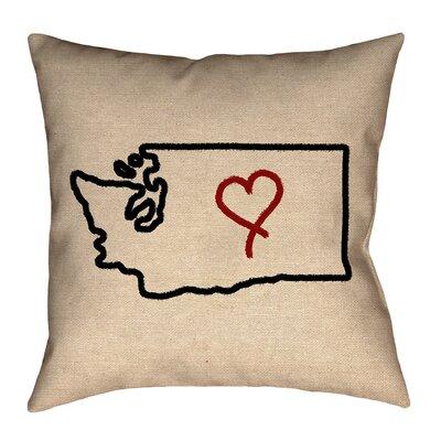 Sherilyn Washington Love Size: 14 x 14, Type: Throw Pillow