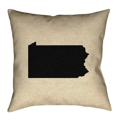 Sherilyn Pennsylvania Floor Pillow Size: 28 x 28, Color: Black