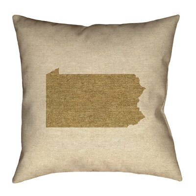 Sherilyn Pennsylvania Floor Pillow Size: 28 x 28, Color: Brown