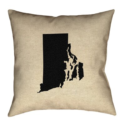 Sherilyn Rhode Island Floor Pillow Size: 18 x 18, Color: Black