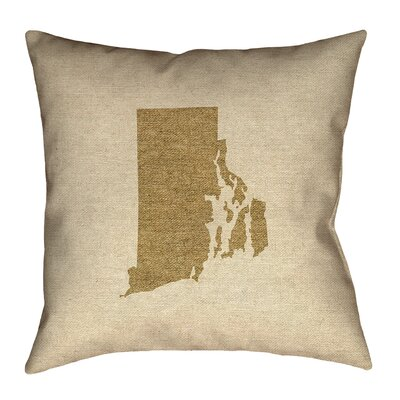 Sherilyn Rhode Island Floor Pillow Size: 18 x 18, Color: Brown