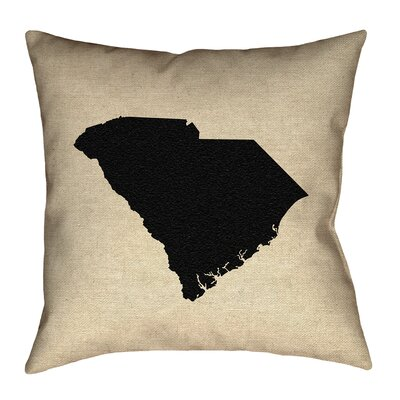 Sherilyn South Carolina Throw Pillow Size: 18 x 18, Material: Spun Polyester, Color: Black