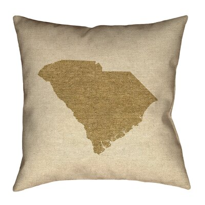 Sherilyn South Carolina Double Sided Print Floor Pillow Size: 28 x 28, Color: Brown