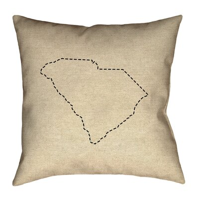 Sherilyn South Carolina Dash Outline Outdoor Throw Pillow Size: 20 x 20
