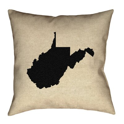 Sherilyn West Virginia Floor Pillow Color: Black, Size: 40 x 40