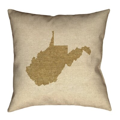 Sherilyn West Virginia Floor Pillow Color: Brown, Size: 28 x 28