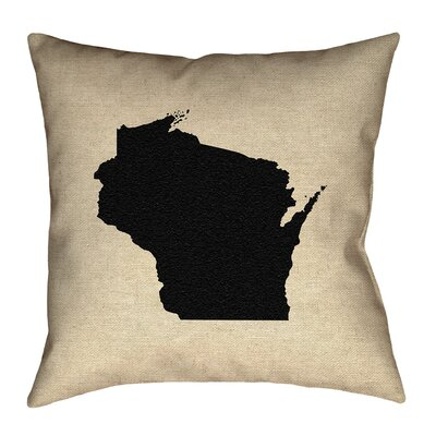 Sherilyn Wisconsin Floor Pillow Color: Black, Size: 14 x 14, Type: Throw Pillow